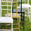 Crystal Clear Banquet Resin Chiavari Chair for Weddings