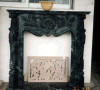 Black Fireplace Natural Stone Black Marble Fireplace