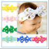 Hot Sale Cute Golden DOT Printing Bowknot Headband Hair Bow Band