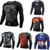 Men Sports Fitness Wear Compression Shirts with Custom Printing