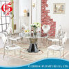 Modern Design Round Stainless Steel Dining Table and Chair Sets