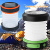 USB&Solar Rechargeable Collapsible Mini Flashlight for Camping