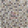 Metal Mix Rainbow Glass and Travertine Mosaic (CS183)