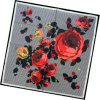 Lady Fashion Printed Square Silk Scarf (HC007-1)