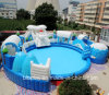Inflatable Water Park with Inflatable Pool