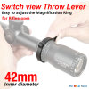 Switchview Power Ring Throw Lever for Riflescopes