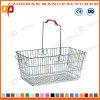 Popular Supermarket Metal Wire Portable Shopping Basket (ZHb154)