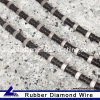 Rubber Diamond Wire for Hard Stone Cutting