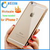 Luxury Plating Bumper Transparent Soft Mobile TPU Phone Case for iPhone 7/7plus/Note 7