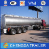 3axles Stainless Steel Oil Fuel Tank Trailer for Sale (42cbm)