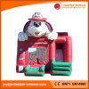Inflatable Jumping Moonwalk Fire Dog Bouncer with Slide (T3-098)