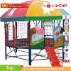 Huadong Outside Kids Round Trampoline with Roof, Trampoline Outdoor
