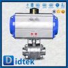 Didtek Stainless Steel Pneumatic Drive Floating Ball Valve