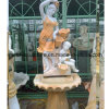 Lady Statue Stand Flouring Water Stone Sculpture Fountain (SY-F053)