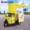 Gasoline 3 Wheeler Piaggio Ape Vespa Car Electric Food Tricycle Cart for Sale