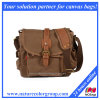 Vintage Canvas Leather Messenger Bag, Casual Shoulder Bag Crossbody (MSB-006)