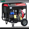 5kw 188fa Diesel Generator with Two Wheels and Open Frame (DG7000E-B)