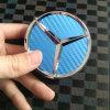 75mm Blue Carbon Fiber Car Wheel Center Hub Cap for Mercedes Benz