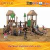 Wood-Plastic Children Outdoor Amusement Playground Equipment (2014 NL-01401)