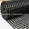China Factory Warp Knitted Polyester Geogrid for Railway Foundation