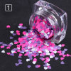 Mixed Color Heart Shape Nail Sequins Flakes Manicure Nail Art Decoration