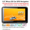"Factory Sale 5.0"" Car Truck Marine GPS Navigation with Wince 6.0 GPS Navigation System, FM, AV Parking Rear Camera, GPS Navigator Tracking Antenna, Bluetooth"