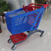 New Design Blue and Red Color Full Plastic Shopping Cart