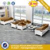 Office Used Metal Frame Leisure Fabric Leather Sofa (HX-8N1227)