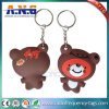 Waterproof RFID Passive Tag Soft PVC Key Rings with Logo