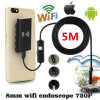 2017 Factory Cheapest WiFi Endoscope, Waterproof Borescope Inspection Camera, Snake Camera 720p with 6 LED for Android and iPhone