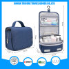 Hanging Polyester Cosmetic Travel Toilet Toiletry Wash Bag with Handle