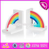 Brand New Children Rainbow Wooden Decorative Bookends for Sale W08d065