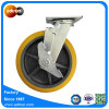 250kg Capacity 8 Inch Swivel Plate TPR Castor with Top Lock Brake
