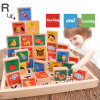 Children Education Wooden Gift Domino Toy Kids Alphabet Blocks