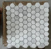 Hexagon White Marble Stone Mosaic Tile (HSM204)