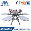 Manual Micro Registration 6 Color 6 Station Screen Printing Machine