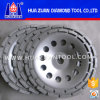 "4"" 100mm Double Rows Concrete Diamond Grinding Cup Wheel 16 Seg - 5/8''-11 Threads"