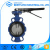 2017 Hot Sale Handle Wafer Type Cast Iron Butterfly Valve
