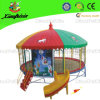 Outdoor Round Trampoline with Slide for Children (LG068)