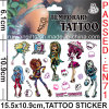 Water Transfer Temporary Tattoo for Girls (cg059)