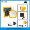 New Designe Rechargeable Solar Lantern with Radio, USB Charger, Battery Level Indicator