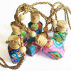 Hanging Car Glass Perfume Bottle with Wooden Cap Pendant