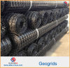 Plastic Polypropylene PP HDPE Polyester Fiberglass Biaxial Uniaxial Geogrid