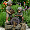 Bronze Fountain with Children for Garden Decor