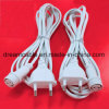 1m White VDE EU Power Cord with Waterproof Plug