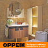 Antique No Top Wooden Bathroom Cabinet with Mirror (OP15-063A)