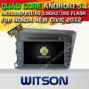 Witson Android 5.1 Car DVD GPS for Honda New Civic 2012 with Chipset 1080P 16g ROM WiFi 3G Internet DVR Support (A5728)