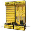 Customized Logo Steel Pegboard Power Tools Promotion Racks Display Stand