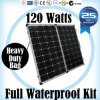 120W Folding Solar Panel for Camping with 4WD SUV