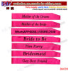 Party Supply Promotional Gifts Yiwu Market Export Agent Wedding Bride to Be Sash Hen Night Bachelorette Bridal Shower Party (B6038)